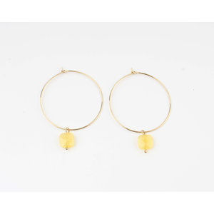 "Earring ""Xero"" yellow ocher / gold"