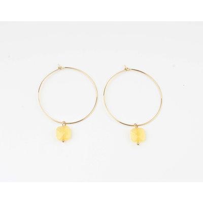 """Earring """"Xero"""" yellow ocher / gold"""