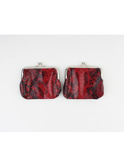 """Clipping purse """"Seal"""" red / black lacquer"""