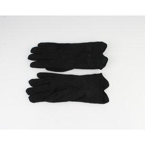 "Gloves ""Basil"" black poetry print"