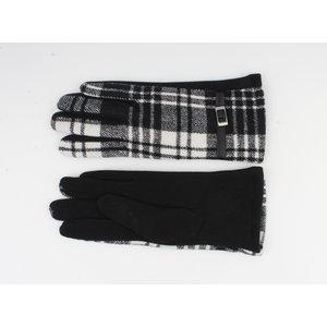 """Gloves """"Camille"""" black / white"""