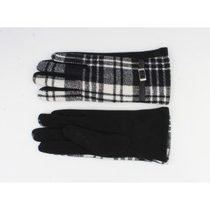 """Handschoen """"Camille"""" zwart/wit"""