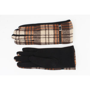 """Gloves """"Camille"""" brown / rust"""