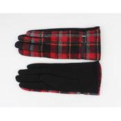 """Handschoen """"Camille"""" rood/zwart"""