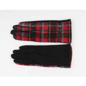 "Gloves ""Camille"" red / black"