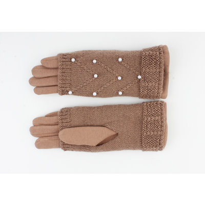 "Gloves ""Clover"" taupe"