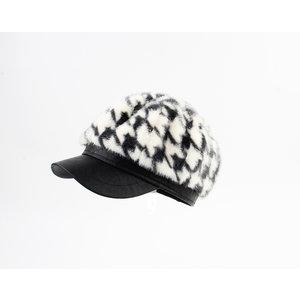 """Balloon cap """"Dawn"""" black / cream"""