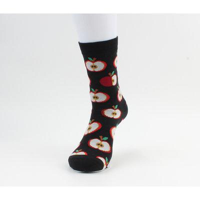 """Sokken """"Tierra"""" zwart/rood"""