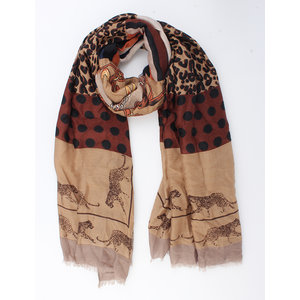 """Scarf """"Ivory"""" brown"""