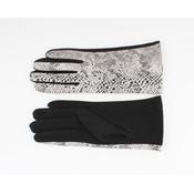 """Handschoenen """"Dinero"""" wit/zwart"""