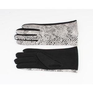 """Handschuhe """"Dinero"""" weiß / schwarz"""