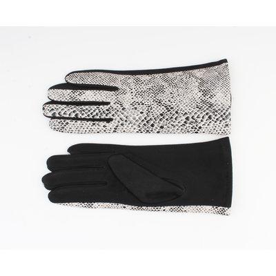 "Gloves ""Dinero"" white / black"