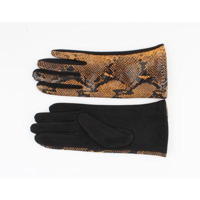 """Handschoenen """"Dinero"""" geel/zwart"""
