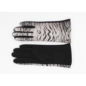 """Handschoenen """"Delgada"""" zwart/grijs"""