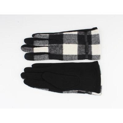 """Handschoenen """"Vince"""" zwart/wit"""