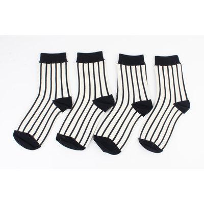 "Socken ""Jax"" cremeschwarz"