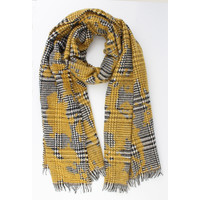 "Scarf ""Quinn"" yellow / black"