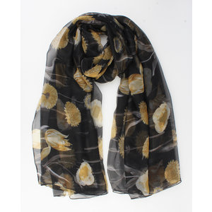"Scarf ""Aisling"" black / yellow"
