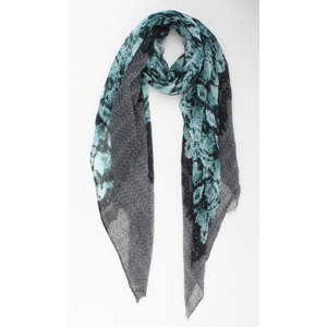 "Scarf ""Aileen"" green / gray"