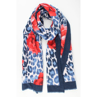 "Scarf ""Ailin"" blue / red"