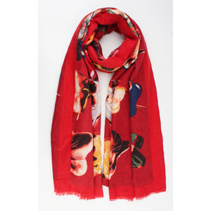 "Scarf ""Alby"" red / multi"