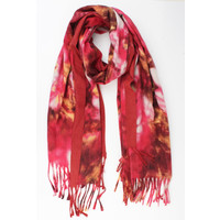 "Scarf ""Primavera"" red"