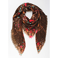 "Scarf ""Damaris"" brown"