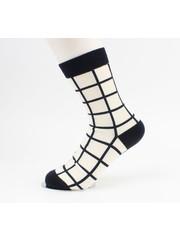"Socken ""Jason"" creme / schwarz"