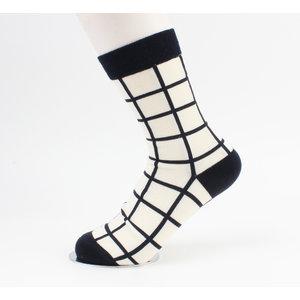 """Socks """"Jason"""" cream / black"""