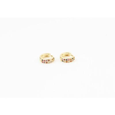 "Earring ""Herradura"", gold / multi"