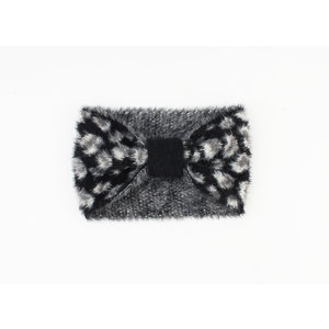 "Haarband ""Ventana"" schwarz / grau"