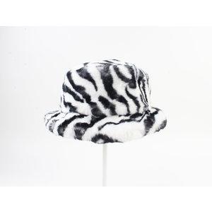 "Fur hat ""Merin"" black / white"