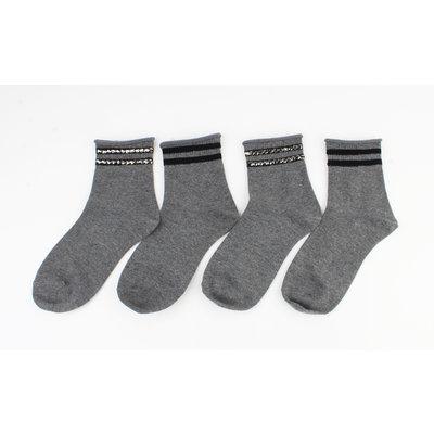 """Socken """"Vicha"""" grau, doppelpack"""