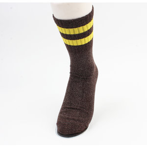 "Socks ""Ipora"" anthracite / yellow"