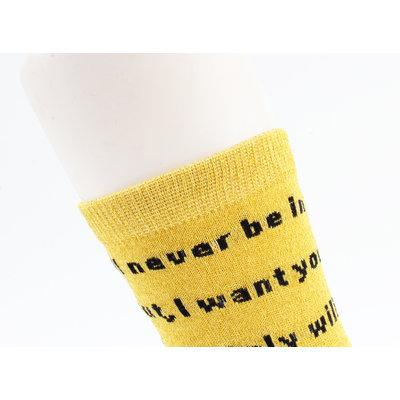 """Sokken """"Corra"""" geel"""