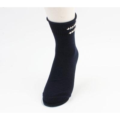 "Sokken ""Vicha"" donker blauw, per 2 paar"