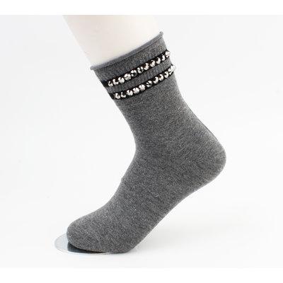 """Sokken """"Vicha"""" grijs, per 2 paar"""