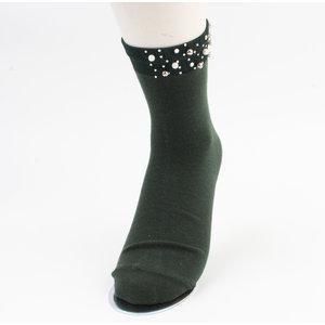 "Socks ""Melo"" green, per 2 pair"