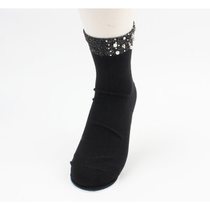 "Socks ""Melo"" black, per 2 pair"