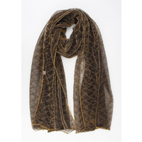 """Scarf """"Vacaria"""" brown / gold"""