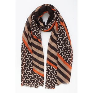 "Scarf ""Pena"" brown"