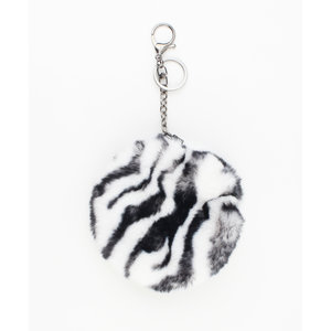 "Key/Bag chain ""Janauba"" black / white"