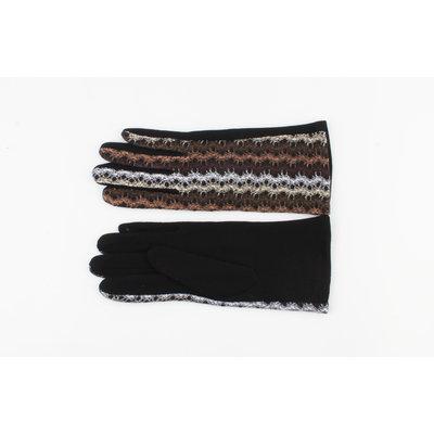 """Handschoen """"Tinga"""" bruin/grijs"""