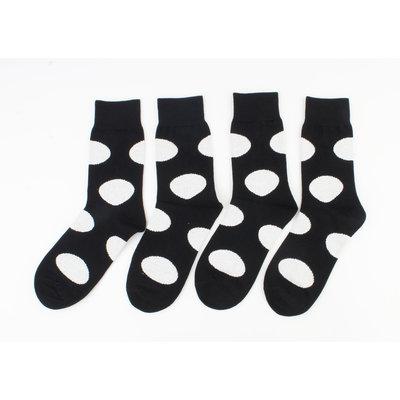"Men's socks ""Miguel"" black / white, per 2 pairs"