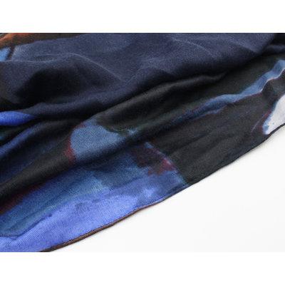 """Sjaal """"Yarani"""" blauw"""