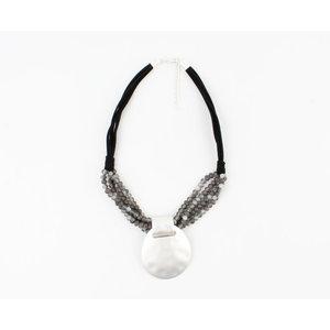 """Halskette """"Assu"""" schwarz / grau"""