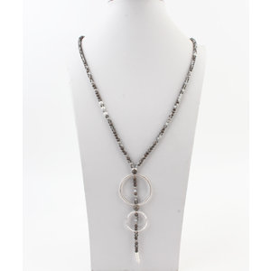 """Necklace """"Natal"""" gray"""