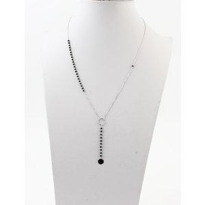 """Necklace """"Carta"""" silver / black"""