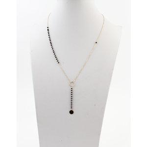 "Necklace ""Carta"" gold / black"
