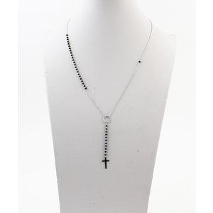 """Necklace """"Baco"""" silver / black"""